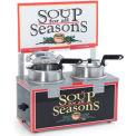 NEMCO®. 6510A-2D4 Soup Merchandiser, Double 4 Qt Well, With Header, 120 Volt