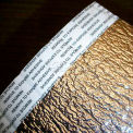 """NOFP Solex™ Radiant Insulation Barrier SOL4125RP, 125'L X 1/4""""H, Reflect (2x) & Perforated"""