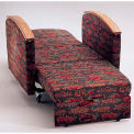 NK Medical Sleeper Chair, With Wood Arms, Cranberry