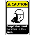Caution Sign 14x10 Rigid Plastic - Respirator Must Be Worn