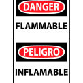Bilingual Machine Labels - Danger Flammable