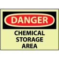 Glow Danger Rigid Plastic - Chemical Storage Area