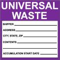 Hazardous Waste Vinyl Labels - Universal Waste