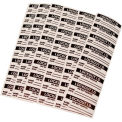Lockout Identification Labels - Danger Do Not Remove This Lock - Pkg Qty 5