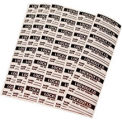 Clear Overlaminante for Lockout Identification Labels