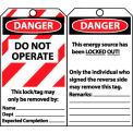 Laminated Lockout Tags