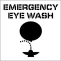 Plant Marking Stencil 20x20 - Emergency Eye Wash