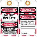 Bilingual Lockout Tags - Do Not Operate - Bloqueado No Ponga En Funcionamiento