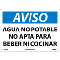 Spanish Plastic Sign - Aviso Agua No Potable No Apta Para Beber Ni Cocinar
