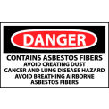 Roll of 500 Hazard Warning Vinyl Labels - Danger Contains Asbestos Fibers