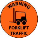 Walk On Floor Sign - Warning Forklift Traffic