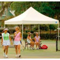 10x10 S T Popup Canopy - White Cover w/Black Roller Bag