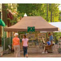 10x15 S T Popup Canopy - White Cover w/Black Wheel Bag