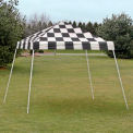 10x10 S L Popup Canopy - Checkered Flag Cover w/Black Roller Bag