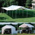 "10'x20' 1-3/8"" 8-Leg Canopy White - Cover w/Enclosure & Extension Kits"