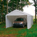 "Shelterlogic Super Max™ Canopy With 2-In-1 Encl Kit 23572, 10'W X 20'L, 2"" Frame, 8-Leg, White"