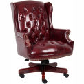 Wingback Traditional Executive Chair - Burgundy