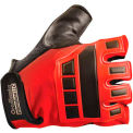 Classic Embossed Back Gel Deluxe Anti-Vibration Gloves, Red, Large