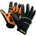 Classic Cut Resistant Kevlar Work Gloves, Green with Black Trim, XL
