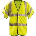 Premium Solid Dual Stripe Vest, Half Sleeve, Hi-Viz Yellow, 4XL