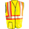 Premium Solid Two-Tone Vest, Hi-Viz Yellow, 4XL
