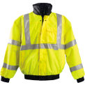 Premium Black Bottom Bomber Jacket, Hi-Vis Yellow, 5XL