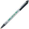 Bic® Ecolutions Clic Stic Retractable Ball Pen, Medium, Black Ink, Dozen