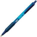 Bic® Soft Feel Retractable Ball Pen, Medium, Blue Barrel/Ink, Dozen