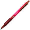 Bic® Soft Feel Retractable Ball Pen, Medium, Red Barrel/Ink, Dozen