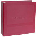 """Omnimed® 1-1/2"""" Antimicrobial Binder, 3-Ring, Side Open, Holds 300 Sheets, Burgundy"""