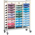 Omnimed® Standard Horizontal Open Chart Rack, 30 Binder Capacity, Beige