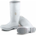 "Onguard Women's Boot, 14""White Steel Toe W/Safety Lock, PVC, Size 10"