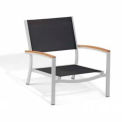 Oxford Garden® Travira Outdoor Beach Chair - Black Sling - Tekwood Natural Armcaps (4 pk)