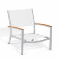 Oxford Garden® Travira Outdoor Beach Chair - Natural Sling - Tekwood Natural Armcaps (2 pk)