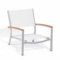 Oxford Garden® Travira Outdoor Beach Chair - Natural Sling - Teak Armcaps (2 pk)