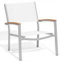 Oxford Garden® Travira Chat Chair, Natural Sling, Tekwood Natural Armcaps, 2/pack