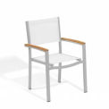 Oxford Garden® Travira Outdoor Armchair - Natural Sling - Tekwood Natural Armcaps (4 pk)
