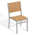 Oxford Garden® Travira Stacking Side Chair, Teak, 2/pack