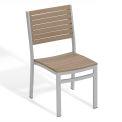 Oxford Garden® Travira Stacking Side Chair, Tekwood Vintage, 2/pack