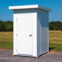 "Panel Built QSEB48-GY - Outdoor Equipment Building, 4' x 8'3""' x 8', Dove Gray"