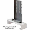 VCR/DVD Bracket For Flat Panel Mounts Fits For VESA Mounts - Silver