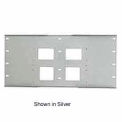 "Triple Metal Stud Wall Plate For PLA Series, 16""-24"" Stud Centers - Gloss Black"