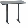 "Rectangular Bar Table with T-Base 30""W x 48""D x 42""H - Graphite Nebula"