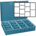 Large Metal Service Tray Adjustable Compartments