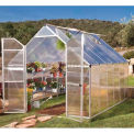 Essence 8' x 12' Greenhouse, Silver Frame, Double Door