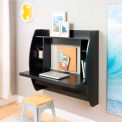 Prepac Manufacturing Floating Desk with Storage - Black