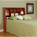 Prepac Manufacturing Cherry Full/Queen Tall Slant-Back Bookcase Headboard