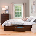 Prepac Manufacturing Espresso Full Mate's Platform Storage Bed with 6 Drawers