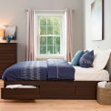 Prepac Manufacturing Espresso King Mate's Platform Storage Bed with 6 Drawers