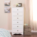 Prepac Manufacturing White Monterey Tall 6 Drawer Chest